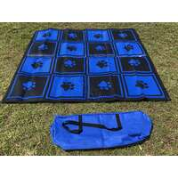Gazebo Mat 1.8m x 1.8m Checkers & Paws Pattern