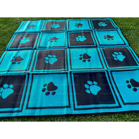 Gazebo Mat 2.4m x 2.4m Checkers & Paws Pattern
