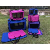 80cm Purple Soft/Fabric Collapsible Pet Crate/Cage