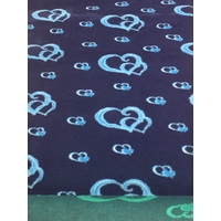 Vet/Dry Bed *Non-Backed* Blue Hearts  **Postage Included**