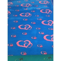 Vet/Dry Bed *Rubberback* Blue/Pink Hearts **Postage Included**