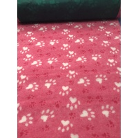 Vet/Dry Bed *Rubberback* Pink Paws