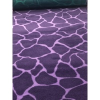 Vet/Dry Bed *Rubberback* Purple Giraffe
