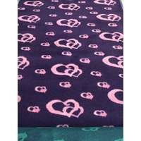 Vet/Dry Bed *Rubberback* Purple/Pink Hearts **Postage Included**