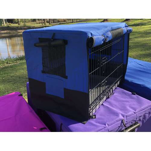 Canvas Waterproof Crate Cover 30inch Blue